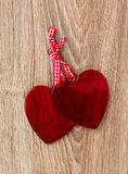 Two bound hearts Stock Photos