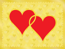 Two bound hearts Stock Images
