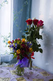 Two bouquets on the table Stock Photo