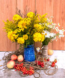 Two bouquets stock images