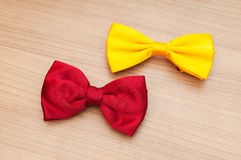 Two bow ties on the  background Royalty Free Stock Images