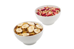 Two bowl of cereal Royalty Free Stock Images