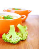 Two bowl with soup Royalty Free Stock Images