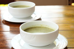 Two bowl of soup Royalty Free Stock Photography
