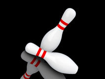 Two bowling pins. Royalty Free Stock Images