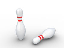 Two bowling pins. Royalty Free Stock Photos