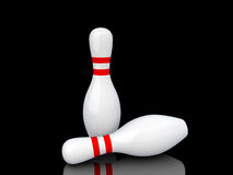 Two bowling pins. Royalty Free Stock Image