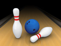 Two bowling pins. Stock Image