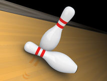 Two bowling pins. Stock Photography