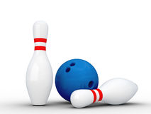 Two bowling pins. Stock Photo