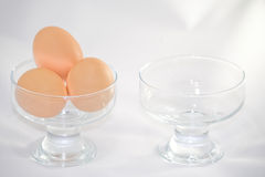 Two bowls Royalty Free Stock Images