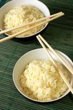 Two bowls of healthy organic rice Stock Photography