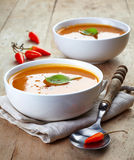 Two Bowls Of Squash Soup Royalty Free Stock Photos