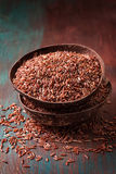 Two bowls with red rice Royalty Free Stock Image