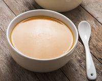 Two bowls of squash soup Stock Photo
