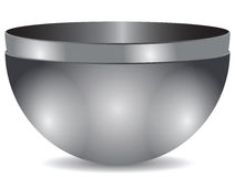Two bowls of steel Stock Photo