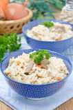 Two bowls Uzbek national dish pilaf closeup Royalty Free Stock Photography