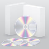 Two box with blank discs Stock Photos