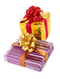 Two box and ribbon Royalty Free Stock Photos