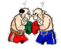 Two Boxer stock illustration