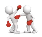 Two boxers during the boxing match Royalty Free Stock Photography