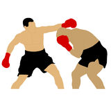Two boxers fighting Stock Photo