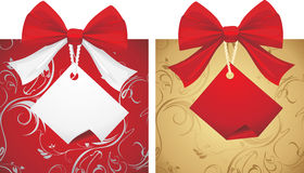 Two boxes with bows isolated on the white Stock Photo