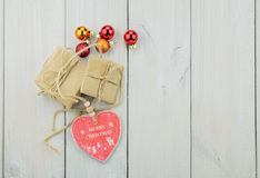 Two boxes with a gift tied with a rope. stock images