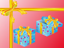 Two boxes for gifts Stock Image