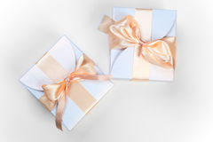 Two boxes with pink bow Stock Image