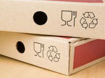 Two boxes of pizza Royalty Free Stock Images