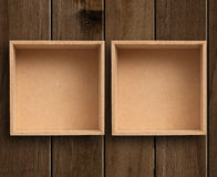 Two boxes. Royalty Free Stock Photography