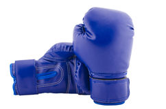 Two boxing gloves resting on each other, all picture is in focus Royalty Free Stock Photos