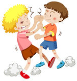 Two boy fighting each other Stock Photography