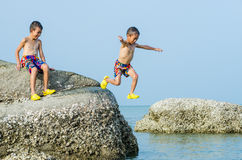 Two boy have fun. Stock Photography