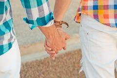 Two boyfriends outdoor portrait Stock Images