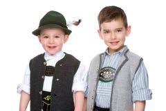 The two boys stock photos