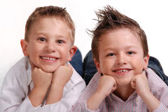 Two Boys Royalty Free Stock Photos