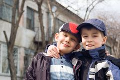 Two boys Stock Photo