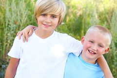Two boys Royalty Free Stock Photos