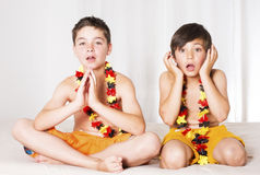 Two boys all excited Stock Photography