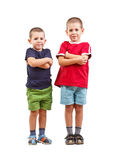 Two boys with arms crossed Royalty Free Stock Images
