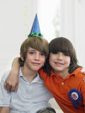 Two Boys At Birthday Party Royalty Free Stock Photography