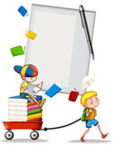 Two boys with books. Illustration Stock Photography