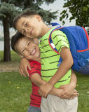 Two boys are brothers in the arms Royalty Free Stock Photos