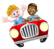 Two Boys in a Car Stock Photo