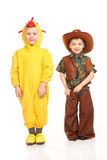 Two boys in costumes Royalty Free Stock Images