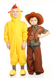 Two boys in costumes Royalty Free Stock Photography