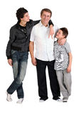 Two boys with dad Royalty Free Stock Photos