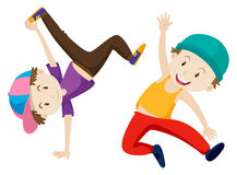 Two boys doing breakdance Royalty Free Stock Photo